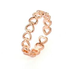 Fashion Hollow Heart Ring Rose Gold Open Band Women Finger Knuckle Adjustable