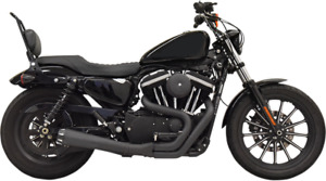 Bassani Black 2-1 Road Rage Megaphone Exhaust for 04-19 Harley Sportster XLN