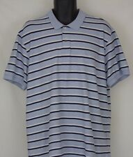 Men's Chaps Easy Care Striped Polo Shirt Short Sleeve Size XL Large