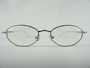 Silberfarbene Damenfassung dezente Brille für Frauen zum niedrigen Preis Gr. M
