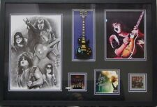 """KISS"" Ace Frehley Hand Signed Photo Display W/ Mini Guitar PAAS COA"
