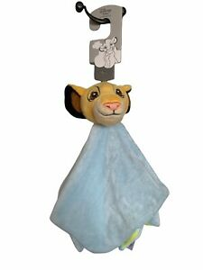 Lion King Disney Baby Comforter Simba Plush Blanket Primark Soft Blue