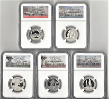 2013 S clad Quarter 5 Coin Proof Set NGC PF70 ULTRA CAMEO ATB  EARLY RELEASES