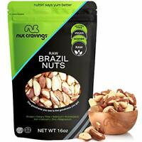 Raw Brazil Nuts - No Shell, Whole, Superior to Organic (16oz - 1 Pound) Packed F