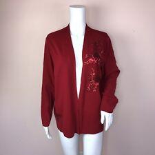 Alfani XL Cardigan Sweater NEW Red Sequin $79