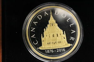 "2016 Canada. $1. ""Renewed Silver Dollar,Library of Parliament"". Coin, Box & COA."