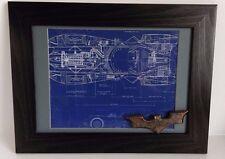 DC Comics Batman Framed Batmobile Blueprint and Replica Batarang