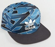 Adidas originals Shatter Stripe snap back cap baseball hat mens womens flat brim