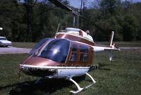 Vintage Kodak 35mm Photo Slide Bell Jet Ranger Helicopter 1969 Kodachrome