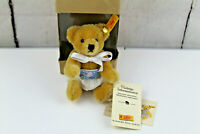 "Steiff Teddy Bear 5"" Tall Baby Bub 12 Collectible Mohair Baby Shower Gift New"