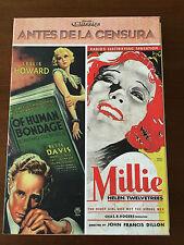 ANTES DE LA CENSURA - MILLIE 1931 - OF HUMAN BONDAGE 1934 - 2DVD + LIBRO BOXSET