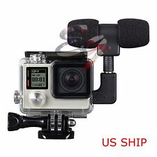 Side Open Skeleton Housing Case + Microphone + Adapter Kit for GoPro Hero 3 3+ 4