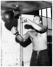 SCOTT BRADY 8x10 still in gym boxing bag he learned boxing in Navy -- (y610)