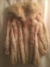 Fur CURLY Persian ITALY Mongolian Tibetan Italian LAMB Ribbon Coat JACKET S M