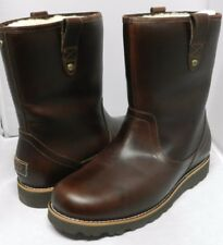 UGG Australia Size 18 Stoneman Brown Leather Boot