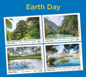 Lebanon New 4 Stamps EARTH DAY 2021 MNH