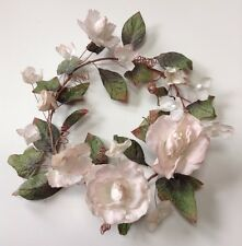 """Cream Dried Flower Parchment 7.5"""" Opening Candle Ring Wall Wreath Craft Decors"""