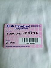 Travelcard special edition London 2012 Olympic games