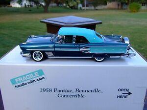 Danbury Mint 1/24th Scale 1958 Pontiac Bonneville Convertible-BOX-VERY NICE-