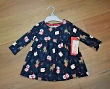 BABY GIRLS AGE 6-9 MONTHS CHRISTMAS JUMPER DRESS TOP