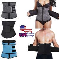 Women Men Fajas Sweat Body Shaper Waist Trainer Cincher Corset Belt Shapewear US