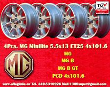 4 Cerchi MG B Series Minilite 5.5x13 PCD 4x101 Wheels Felgen Llantas Jantes TUV