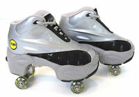 UNIQUE Quad KICK ROLLER Skates retractable WALKnROLL BN Silver/Grey FREE SHIP