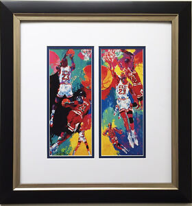 "LeRoy Neiman ""Michael Jordan"" Newly CUSTOM FRAMED Print - Chicago BULLS MJ - NBA"
