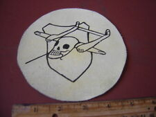 WWII LUFTWAFFE GLIDER SQ 1/SCHLEPPGRUPPE  WHITE GOTHA SKULL  FLIGHT JACKET PATCH