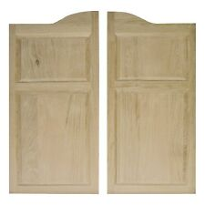 "COMMERCIAL SOLID OAK WOODEN CAFE SALOON SWINGING DOORS ANY 24""-36"" w/Hardware"