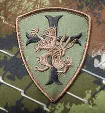 NAVY SEAL TEAM 6 DEVGRU LION CROSS CRUSADER SHIELD FOREST VELCRO® BRAND PATCH