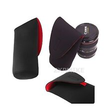XXL Black Neoprene Soft DSLR SLR Camera Lens Pouch Case Bag