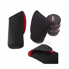 XL Nero In Neoprene Morbido DSLR SLR Camera Lens Pouch Custodia Borsa