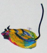 "Plush Multi-color 3 1/4"" Bean Bag Bebe Sandbag Mouse Paperweight"
