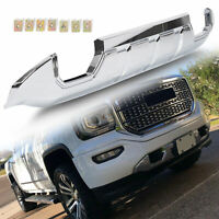 Fits 2016-2018 GMC Sierra 1500 Front Bumper Skid Plate Protective Armor Chrome