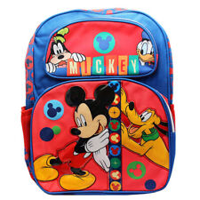 "Mickey Mouse Clubhouse 16"" Backpack Boys School Book Bag"
