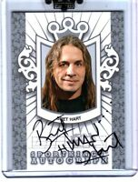 "WWE Bret ""Hitman"" Hart A-BHA2 2009 Sportkings Series D Silver Autograph Card"