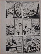 JACK SPARLING original art, WARFRONT #9 pg 24,14x 19,1952,WWII, Japanese, Island Comic Art