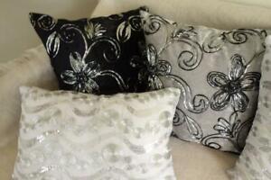 Home Mix & Match Velvet & Sequins Pillow Case Cushion Cover 45cm/30x50cm