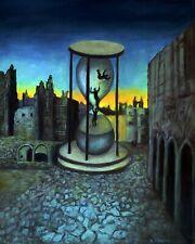 (FINAL REDUCTION l!!!) The Hourglass Prophetic Realistic Landscape Oil Painting