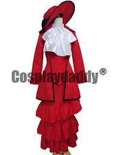 Black Butler Kuroshitsuji Red Madam Red Dress Cosplay Costume