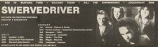 28/7/90 Pgn14 Advert: Swervedriver 4 Track Single son Of Mustang Ford 3x11