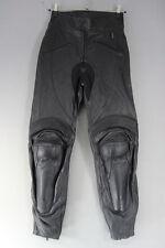 "PROSPEED BLACK LEATHER BIKER TROUSERS + CE KNEE/SHIN ARMOUR: WAIST 32""/I LEG 31"""