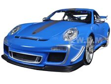 PORSCHE 911 GT3 RS 4.0 BLUE 1/18 DIECAST CAR MODEL BY BBURAGO 11036