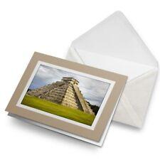 Greetings Card (Biege) - Chichen Itza Temple Maya Mexico  #8877