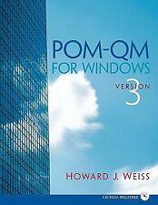 POM - QM v 3 for Windows Manual (3rd Edition)-ExLibrary