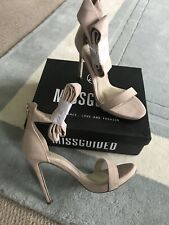 Missguided Nude . Tie On Shoes . New . Size 6 . Tall Classy Shoes .