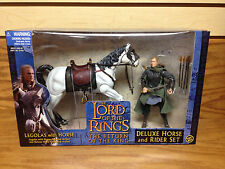 Legolas Dagger Slashing ELF WARRIOR with Horse 2002 Lord of the Rings Deluxe Set