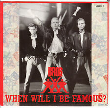 "BROS  When Will I Be Famous? PICTURE SLEEVE 7"" 45 record + juke box title strip"