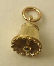 GENUINE SOLID 9ct 9K YELLOW Gold  3D CHRISTMAS BELL WEDDING GIFT Charm/Pendant